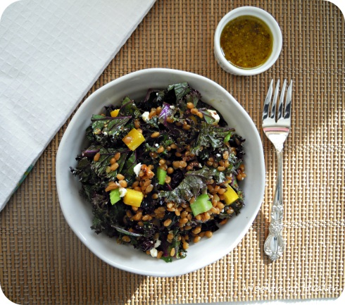 kale & wheat berry salad 2